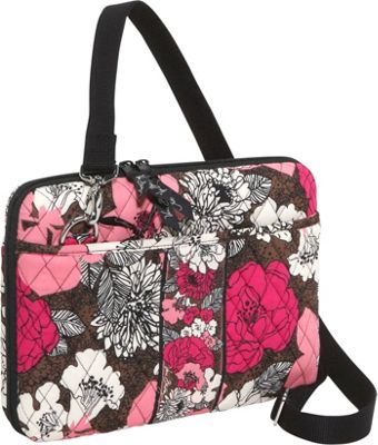Vera Bradley Mini Laptop/iPad Case-Mocha Rouge