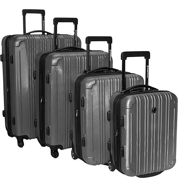 Traveler S Choice New Luxembourg  Piece Hardside Luggage Set