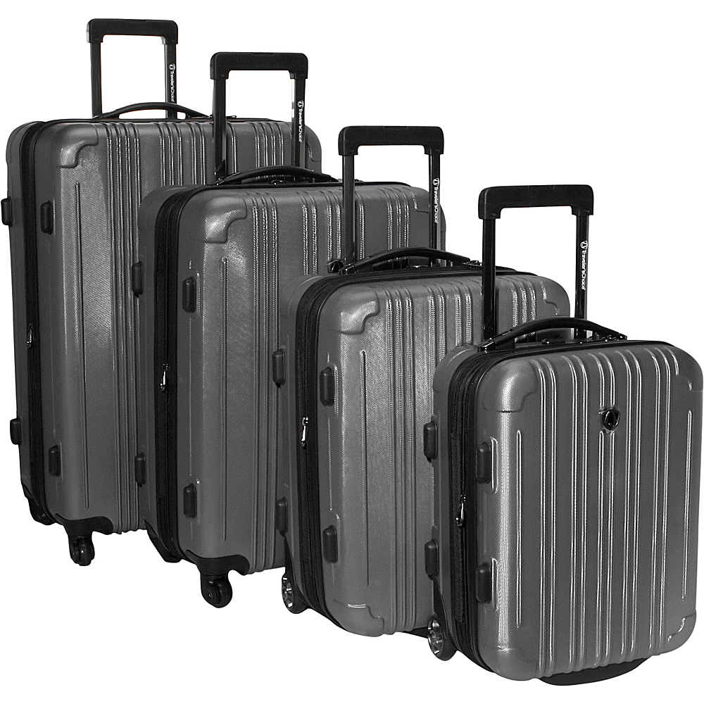 Travelers Choice New Luxembourg 4 Piece Exp. Hardside Luggage Set Titanium - Travelers Choice Luggage Sets - Luggage, Luggage Sets
