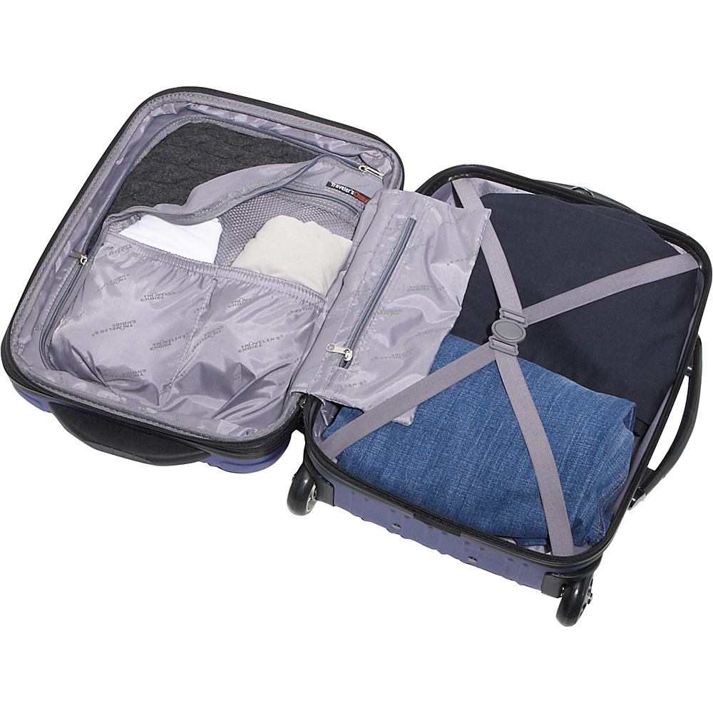 Traveler's Choice New Luxembourg 4 Piece Exp. Hardside Luggage Set Navy - Traveler's Choice Luggage Sets