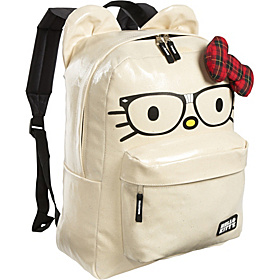 Hello Kitty Nerds Backpack with Ears Tan with Colored Details