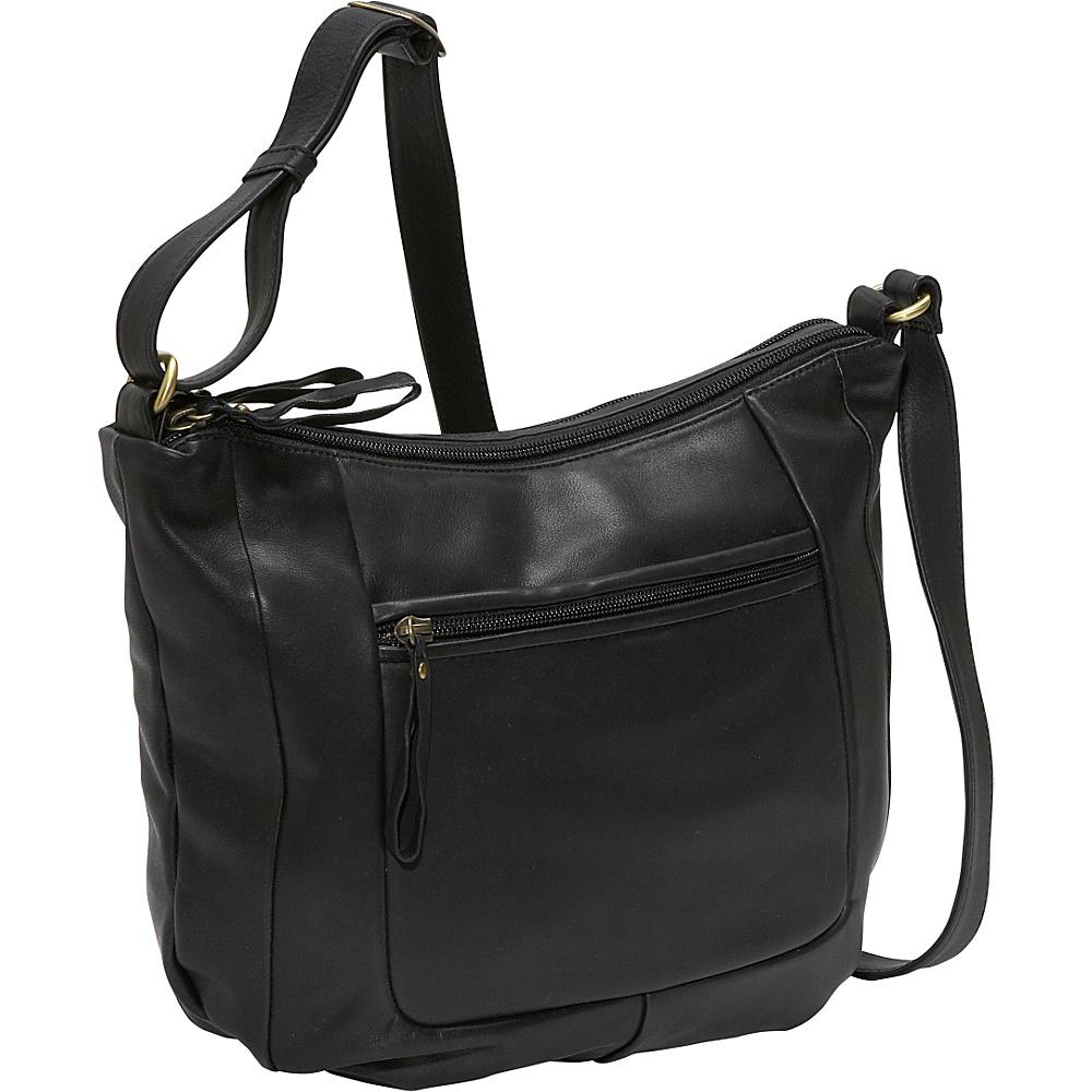 Derek Alexander Large twin top zip - Black - Handbags, Leather Handbags