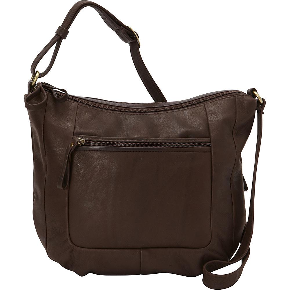 Derek Alexander Large Twin Top Zip Brown - Derek Alexander Leather Handbags - Handbags, Leather Handbags