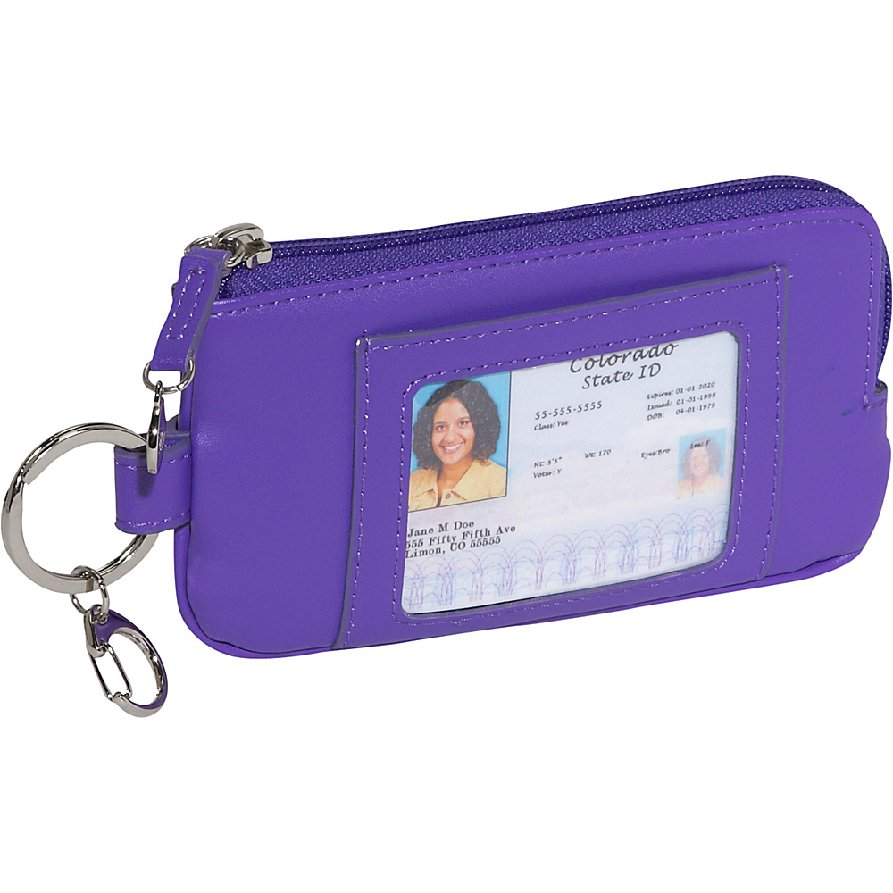 Royce Leather Phone ID Credit Card Wallet - Purple - Technology, Electronic Cases
