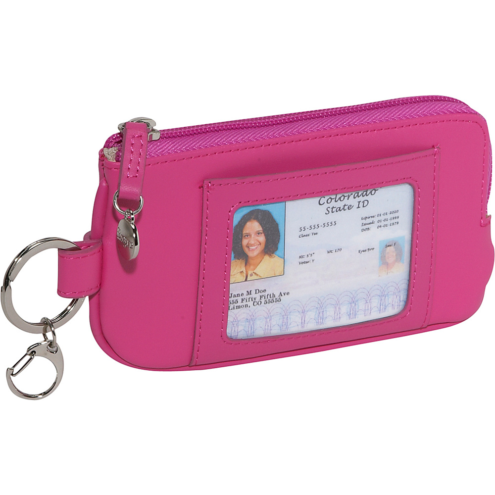 Royce Leather Phone ID Credit Card Wallet - Wild Berry - Technology, Electronic Cases