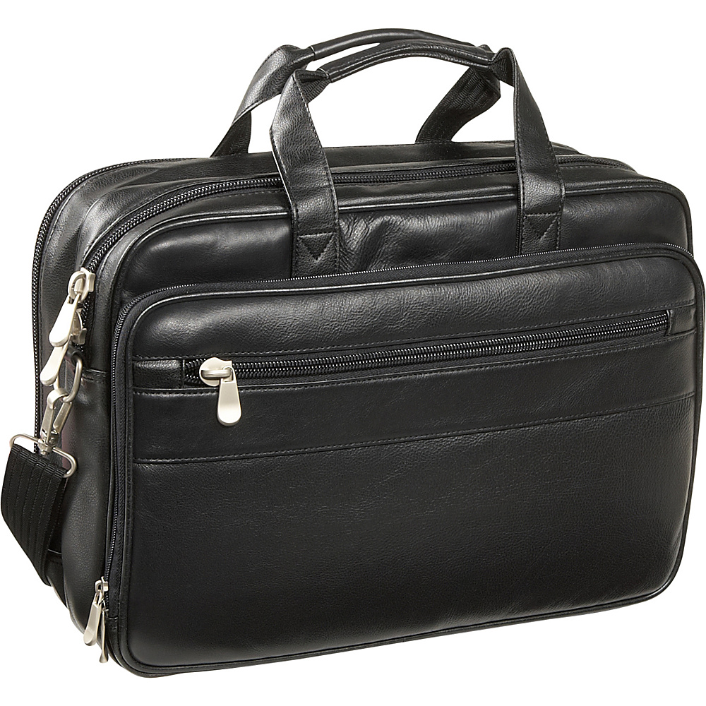 Bellino Soft Brief/ComputerCase - Black - Work Bags & Briefcases, Non-Wheeled Business Cases