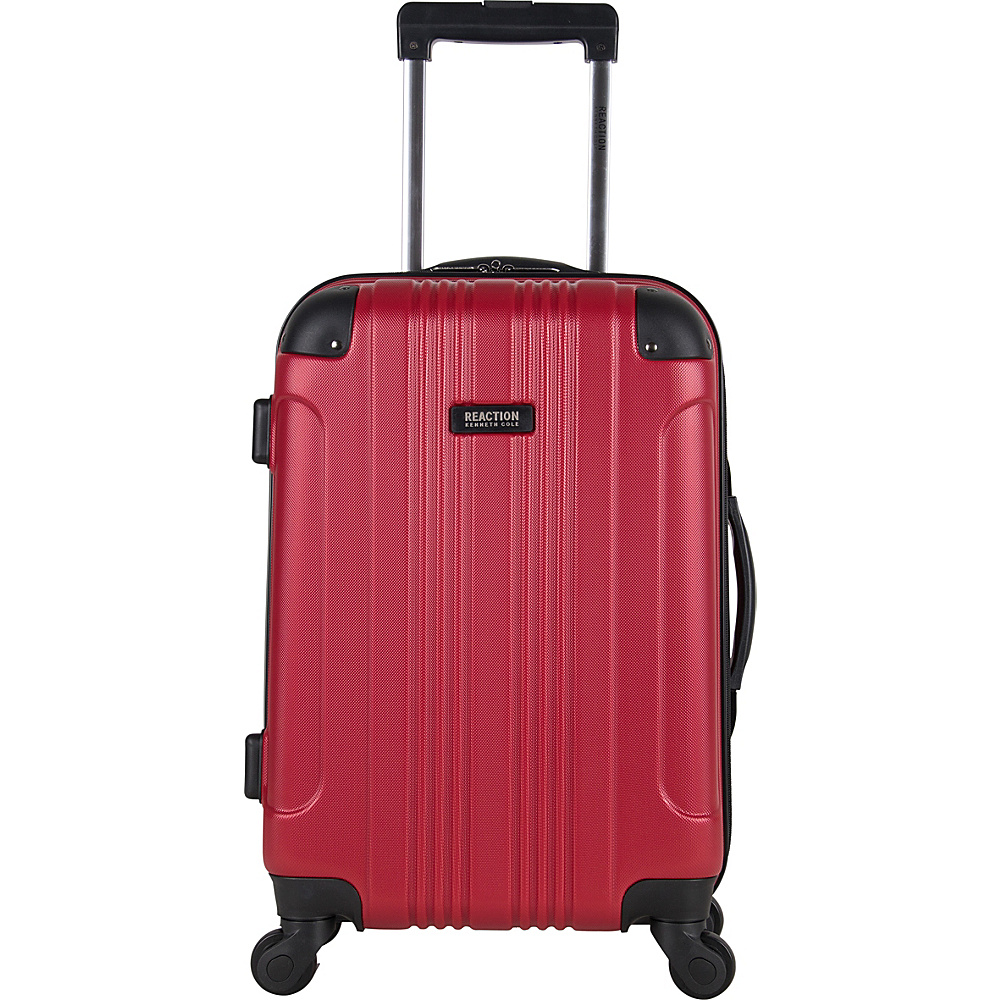 Kenneth Cole Reaction Out of Bounds 20 Molded Upright Spinner Red Kenneth Cole Reaction Hardside Carry On