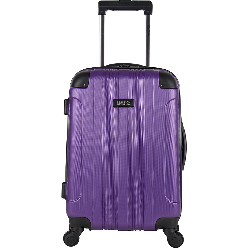 Kenneth Cole Reaction Out of Bounds 20 Molded Upright Spinner Purple Kenneth Cole Reaction Hardside Carry On