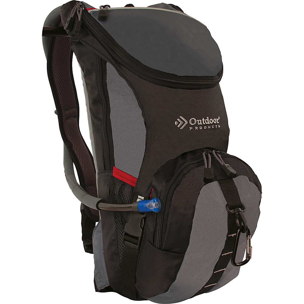Outdoor Products Ripcord Hydration Pack Graphite Outdoor Products Hydration Packs and Bottles