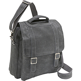 Porthole Laptop Messenger Distressed Grey