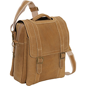 Porthole Laptop Messenger Distressed Tan
