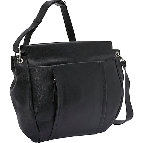 Derek Alexander Top Zip Hobo - Black