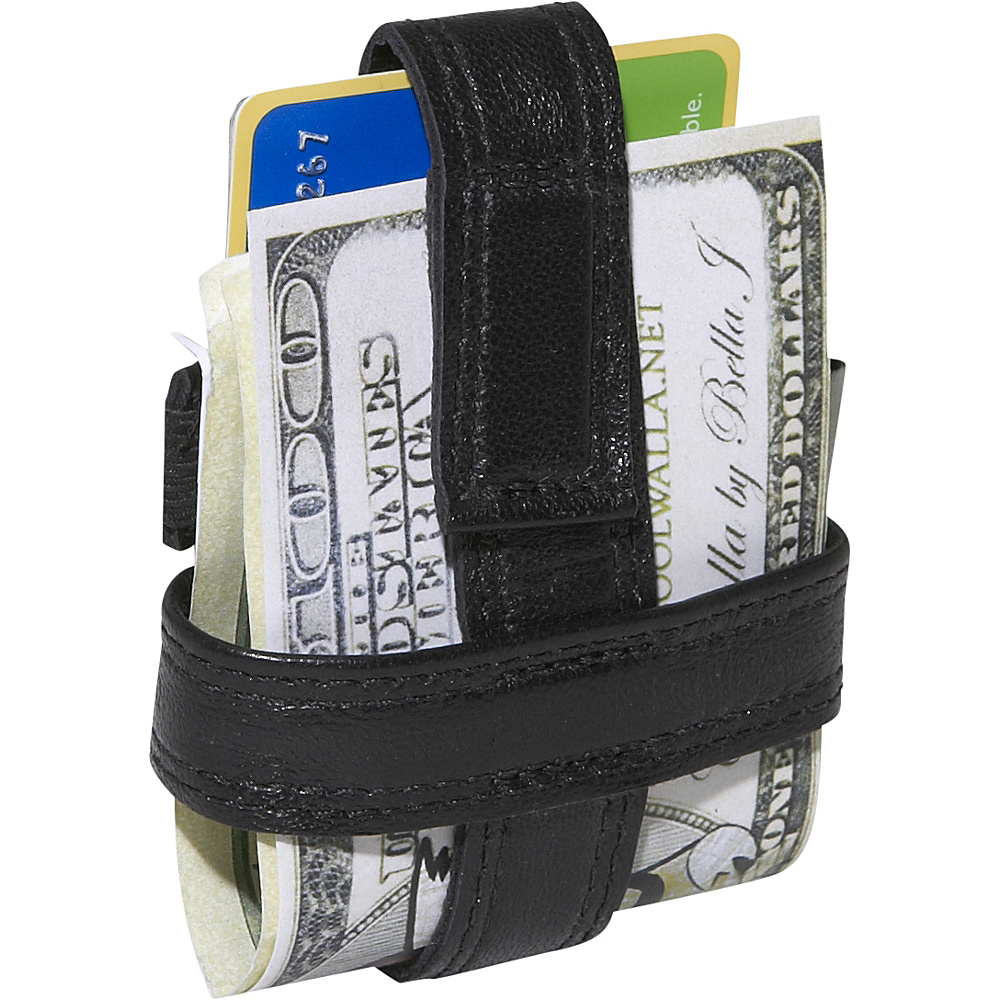 Budd Leather Leather MiniMax Wallet Black