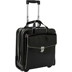 Milano Collection Vertical Laptop Compatible Wheeler Black/Cream