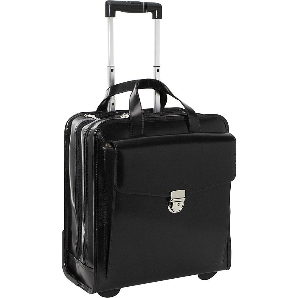 Jack Georges Milano Collection Vertical Laptop Compatible Wheeler Black - Jack Georges Wheeled Business Cases - Work Bags & Briefcases, Wheeled Business Cases