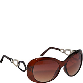 Fasion Round Sunglasses Brown