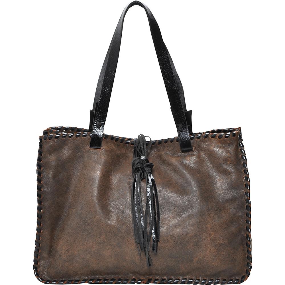Carla Mancini Signature Tote Vintage Brown - Carla Mancini Designer Handbags