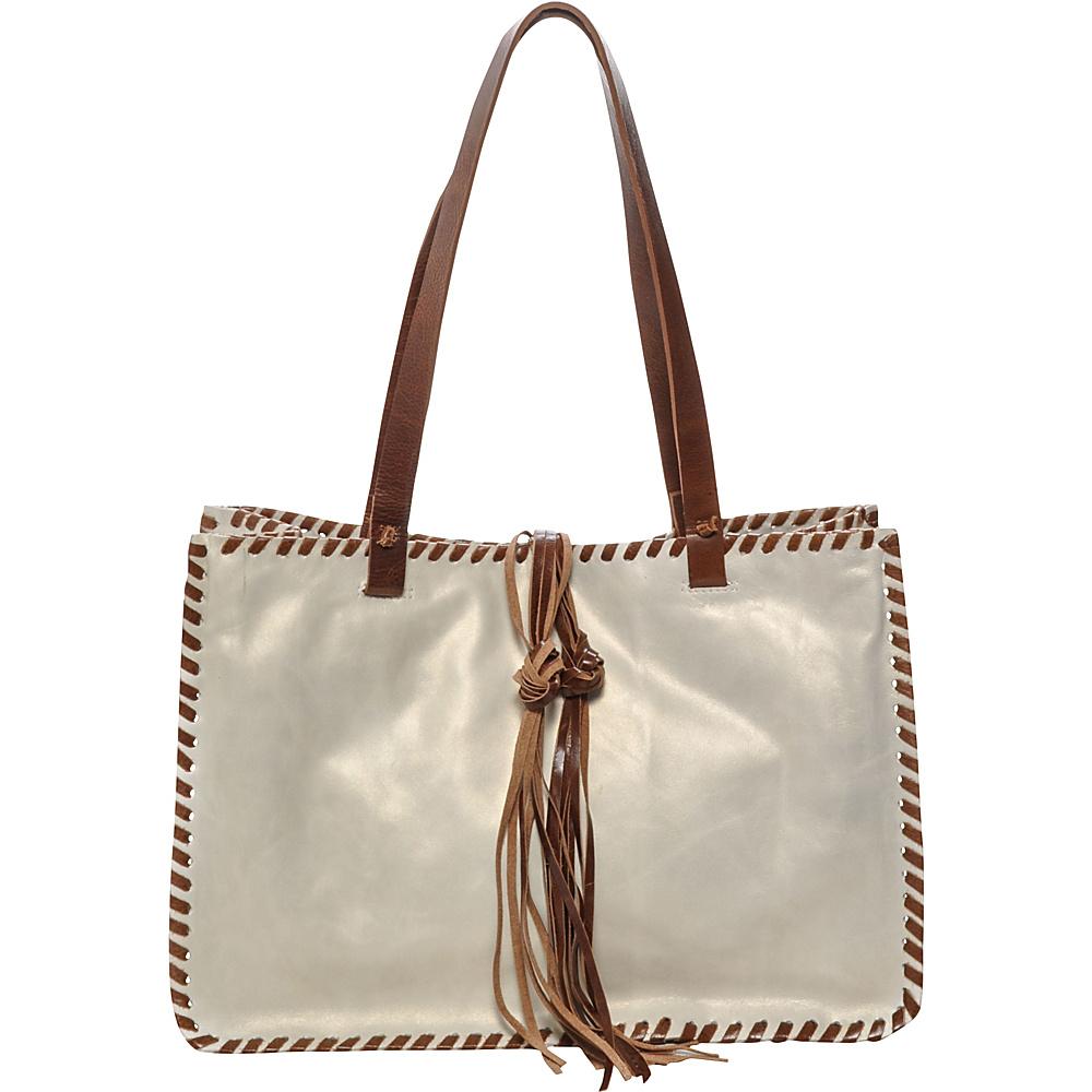 Carla Mancini Signature Tote Peal White - Carla Mancini Designer Handbags