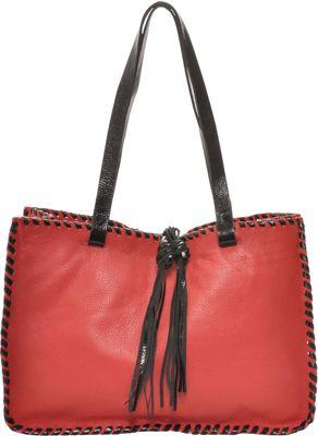 Carla Mancini Signature Tote Red - Carla Mancini Designer Handbags