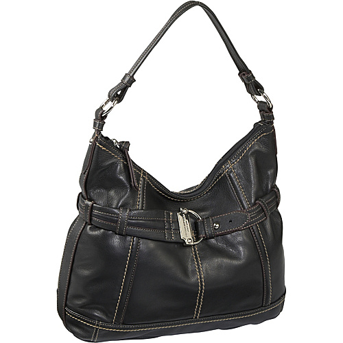 Tignanello Soft Cinch Hobo Black/Black - Tignanello Leather Handbags