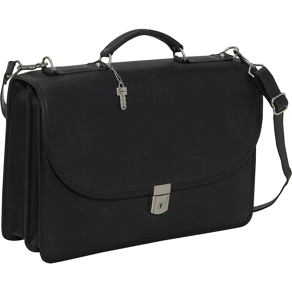 Jack Georges Platinum Collection Flapover Leather - Work Bags & Briefcases, Non-Wheeled Business Cases
