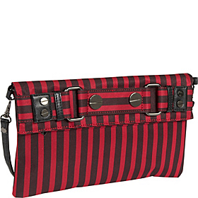 Stripe Clutch Red & Black Stripe