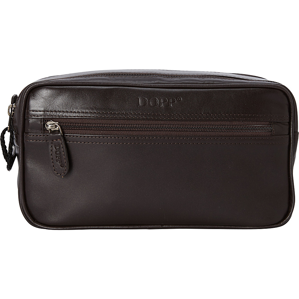 Dopp Milan Soft Sided Multi-Zip Travel Kit - Brown - Travel Accessories, Toiletry Kits