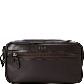 Milan Soft Sided Multi-Zip Travel Kit Brown