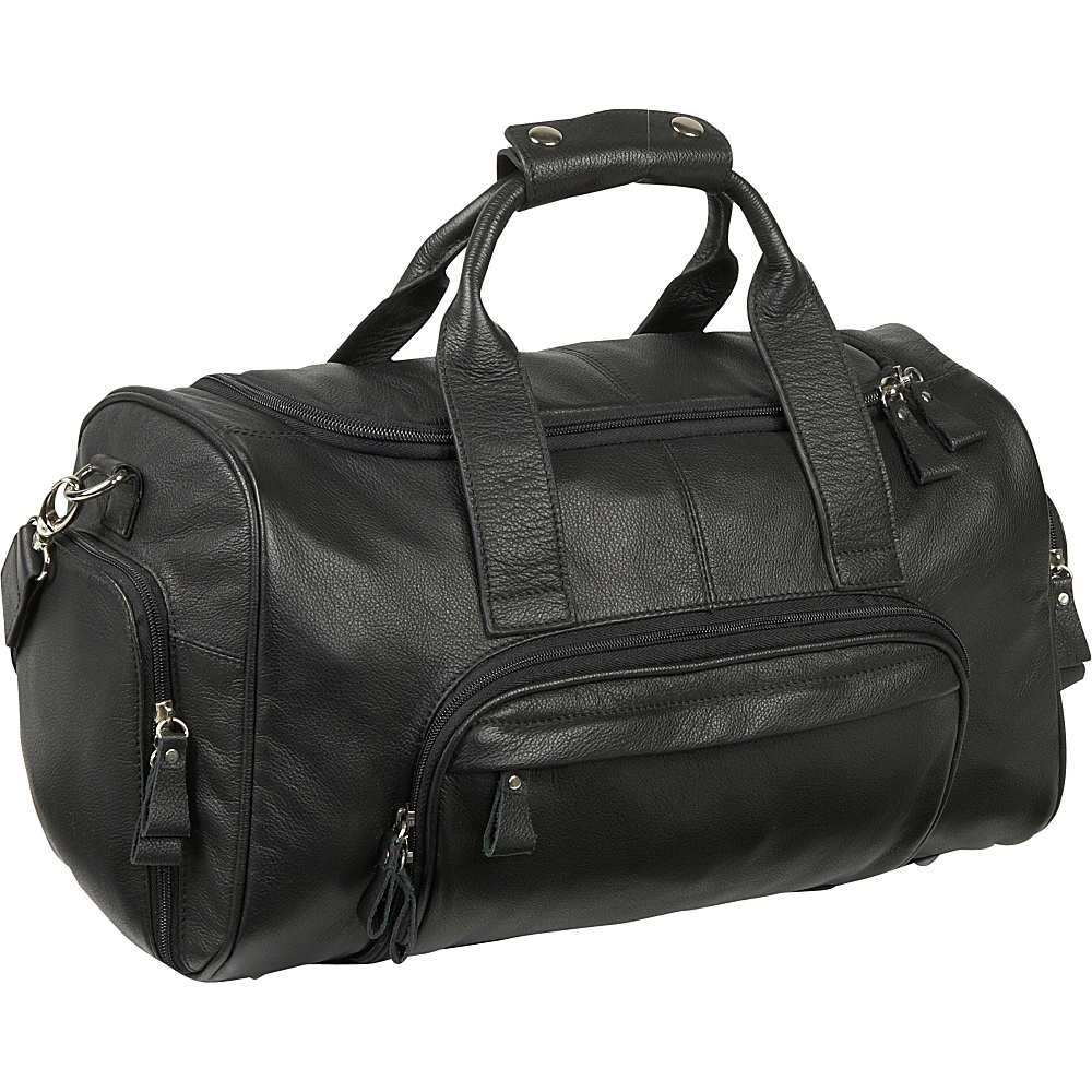Royce Leather Sports Bag - Black