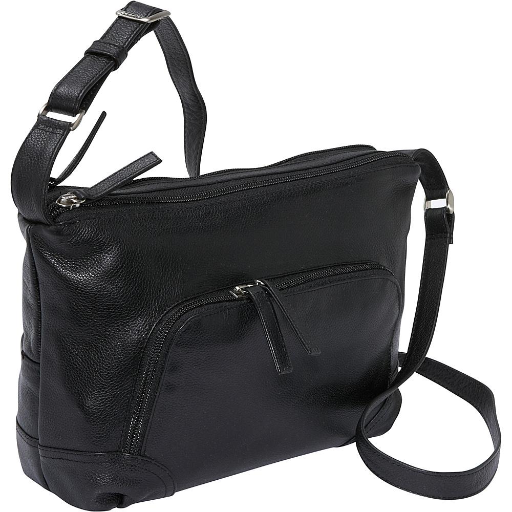 Derek Alexander EW Top Zip - Black - Handbags, Leather Handbags