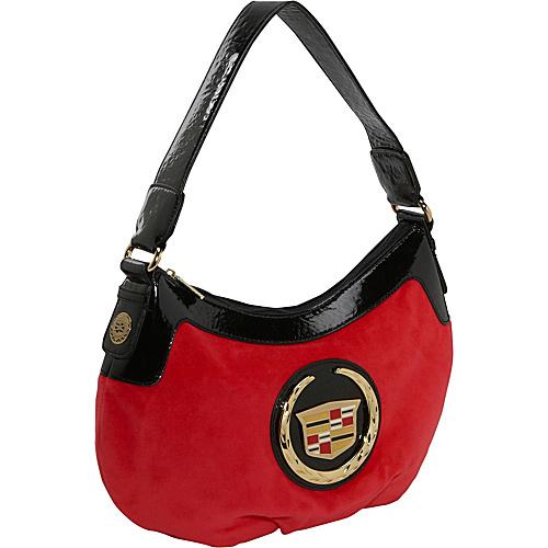Ashley M Velour Cadillac Satchel - Shoulder Bag