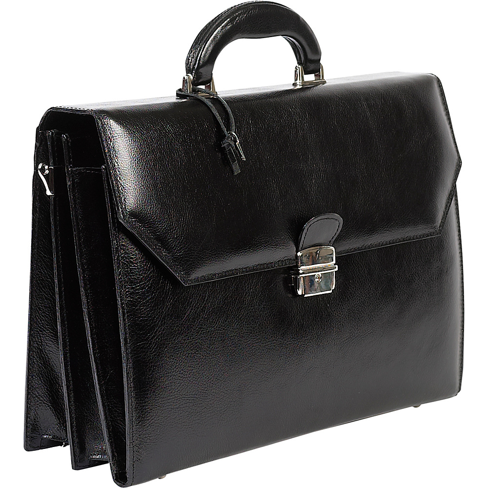ClaireChase Italiano Leather Briefcase - Black - Work Bags & Briefcases, Non-Wheeled Business Cases