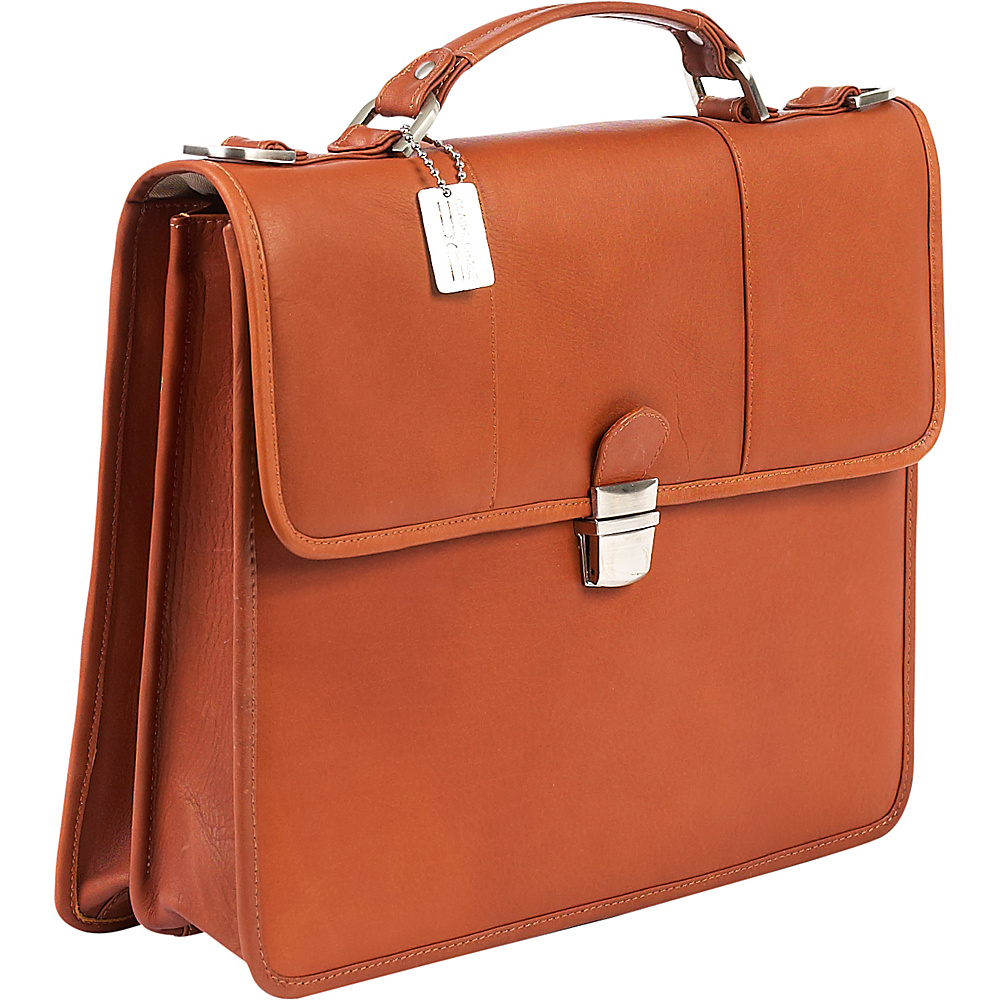 ClaireChase Tuscan Briefcase Saddle - ClaireChase Non-Wheeled Business Cases - Work Bags & Briefcases, Non-Wheeled Business Cases