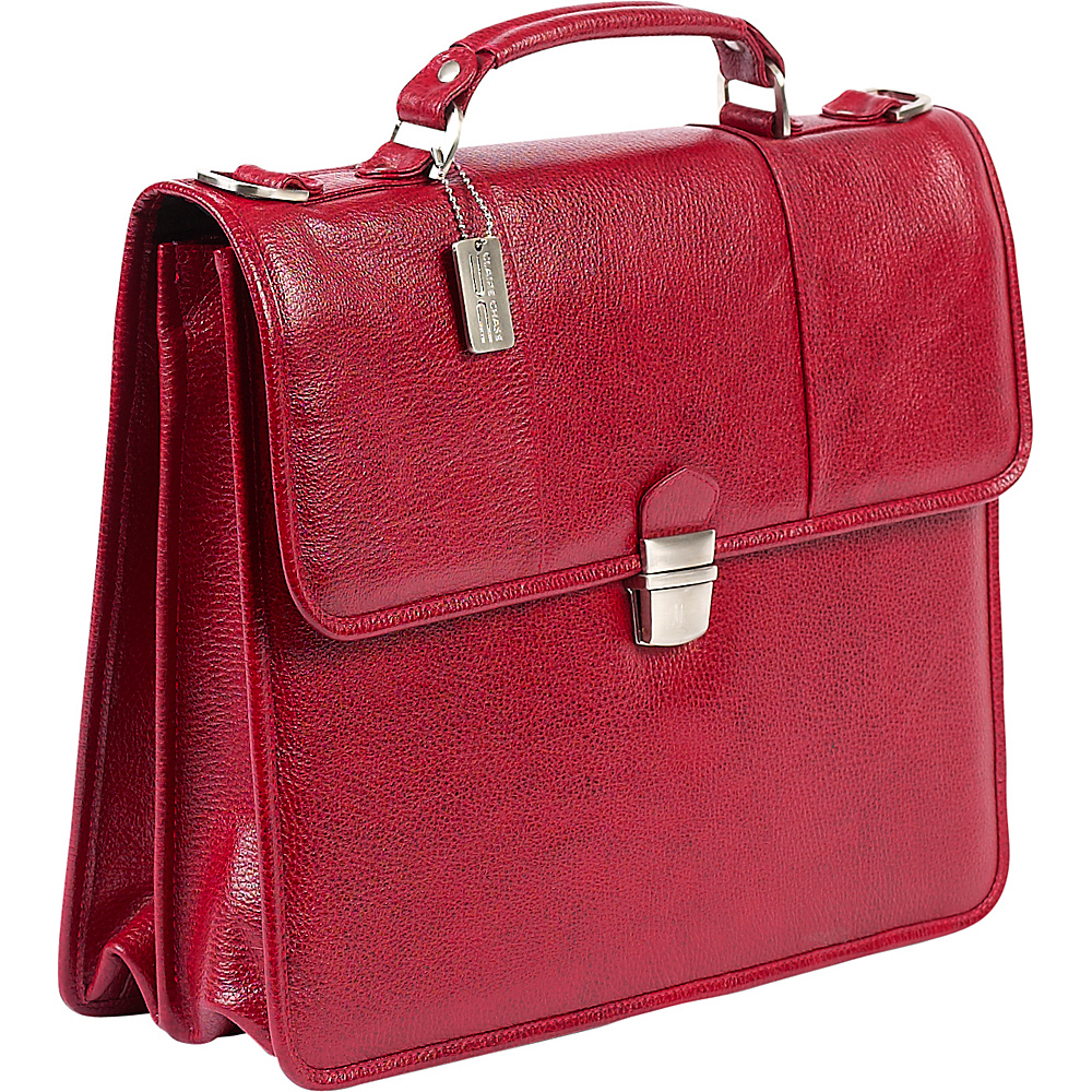 ClaireChase Tuscan Briefcase - Red - Work Bags & Briefcases, Non-Wheeled Business Cases