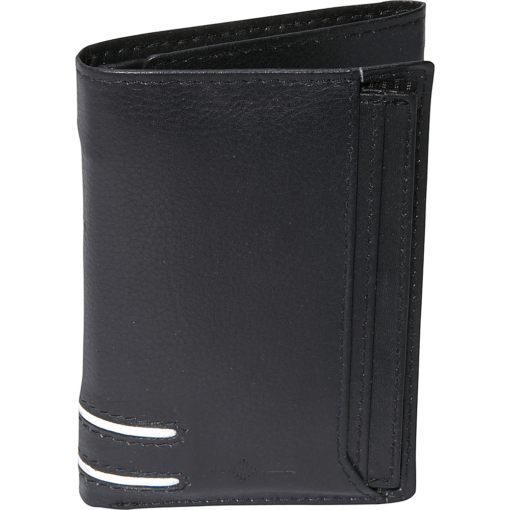 Buxton Luciano ID Threefold - RFID - Black - Work Bags & Briefcases, Men's Wallets