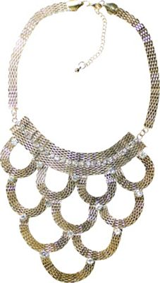 Carol For Eva Graham Designs Gold Crystal Bib Necklace
