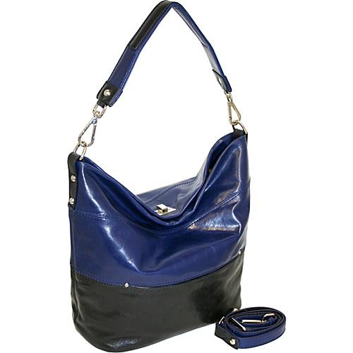 Nino Bossi Bucket Bag with Turn Lock Closure