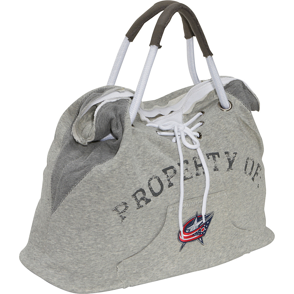 Littlearth NHL Hoodie Tote Grey/Columbus Blue Jackets Columbus Blue Jackets - Littlearth Fabric Handbags - Handbags, Fabric Handbags