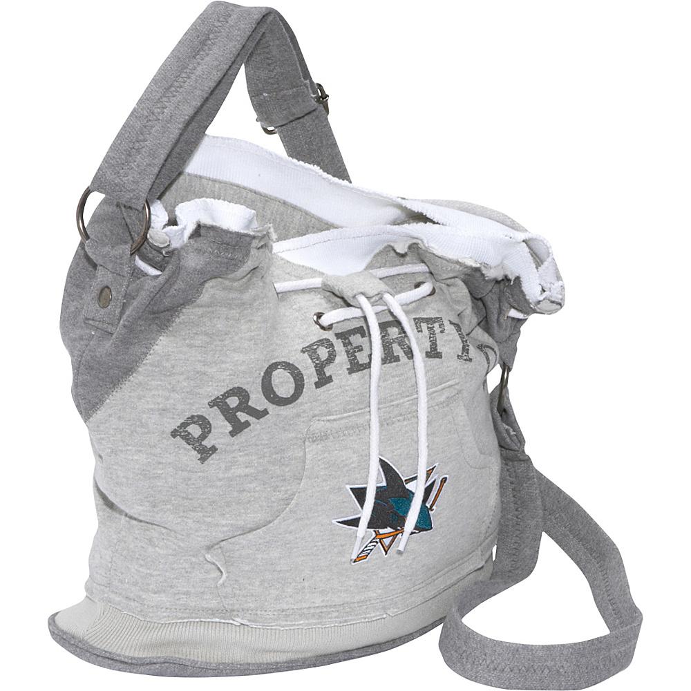 Littlearth NHL Hoodie Duffel Grey/San Jose Sharks San Jose Sharks - Littlearth Fabric Handbags