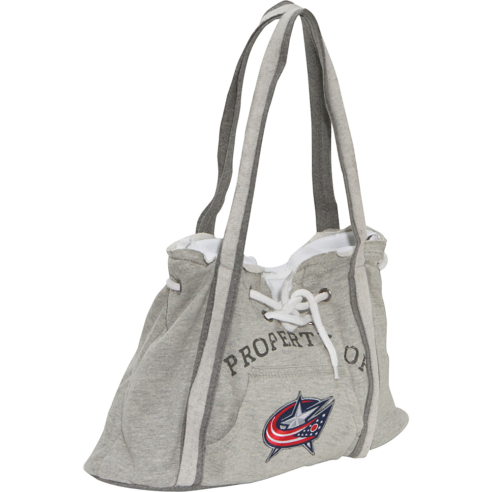 Littlearth NHL Hoodie Purse Grey/Columbus Blue Jackets Columbus Blue Jackets - Littlearth Fabric Handbags - Handbags, Fabric Handbags
