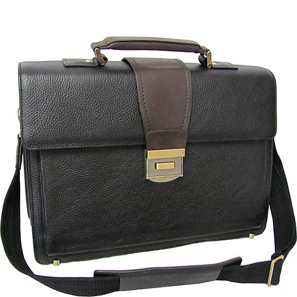 Amerileather Two Tone Charisma Laptop Briefcase Ebags Com
