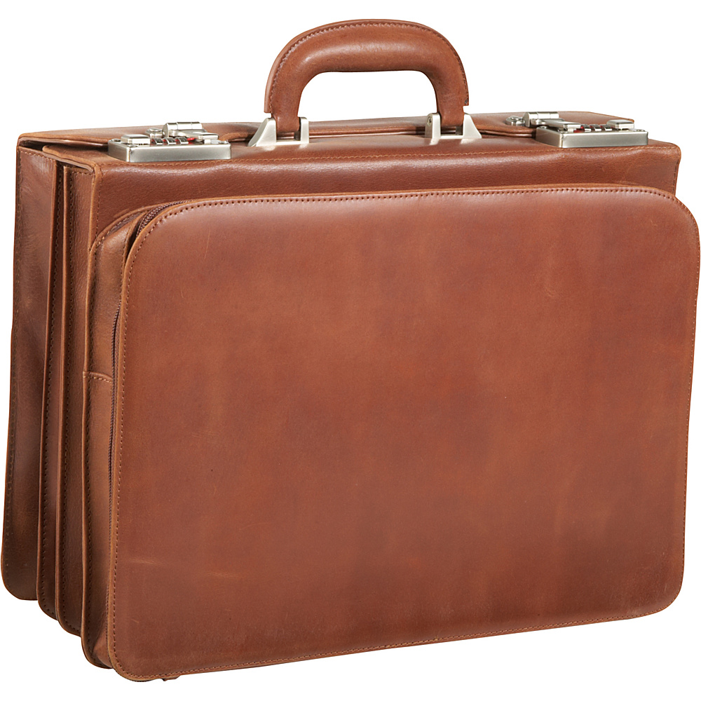 AmeriLeather APC Attache Leather Executive Briefcase - - Work Bags & Briefcases, Non-Wheeled Business Cases