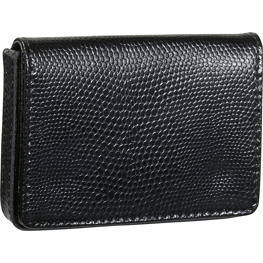 Budd Leather Business Card Case Oversized Black