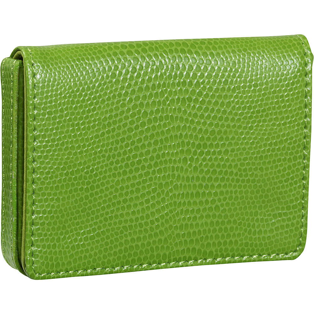 Budd Leather Business Card Case Oversized Lime