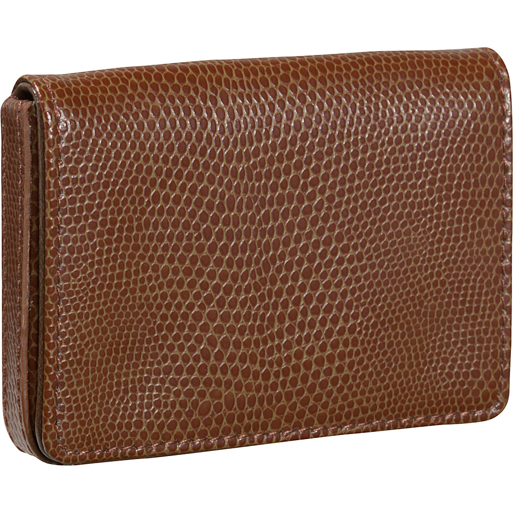 Budd Leather Business Card Case - Oversized - Cognac - Work Bags & Briefcases, Business Accessories
