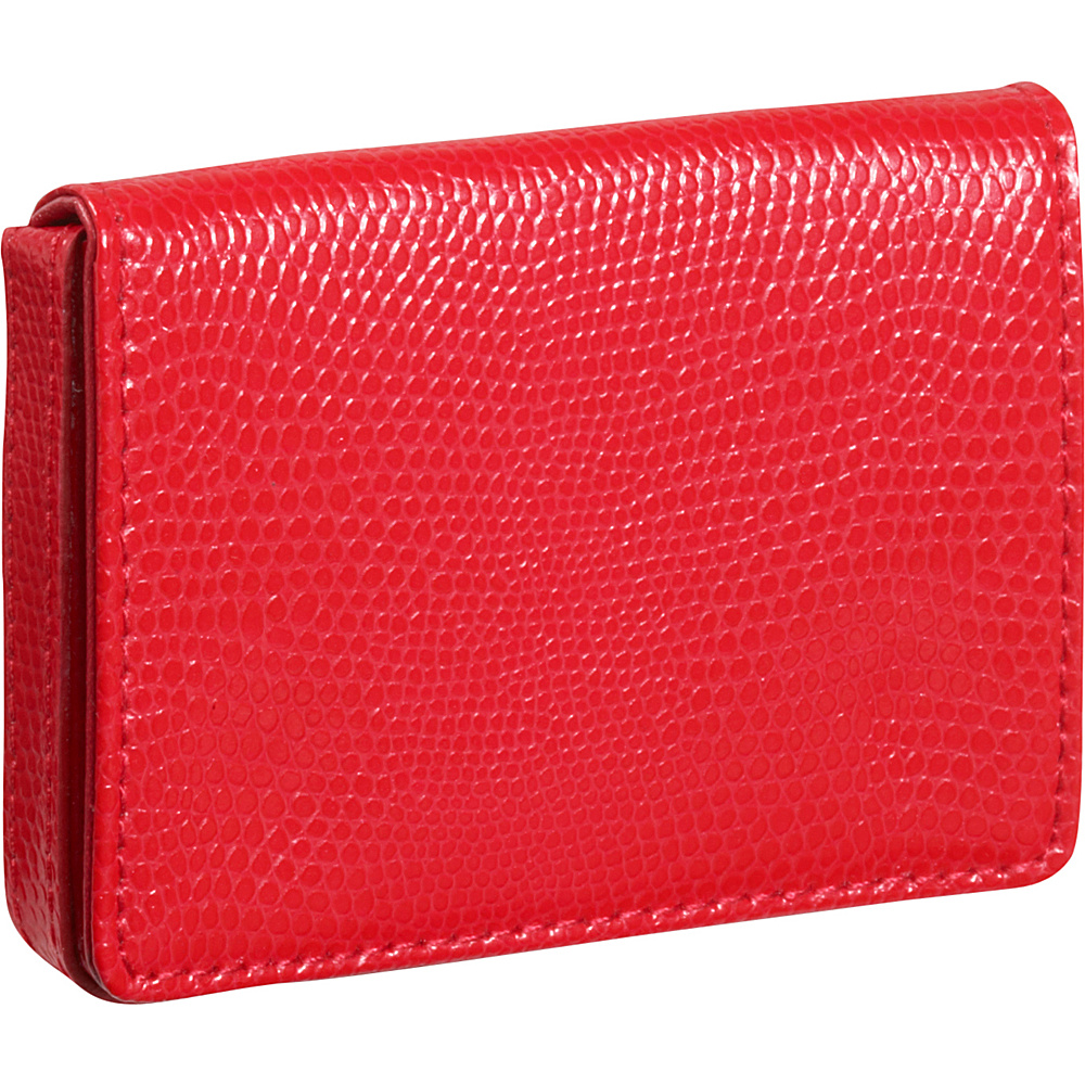 Budd Leather Business Card Case Oversized Red
