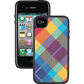 iPhone 4/4S Fabshell Case  Megaplaid Spectrum