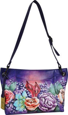Anuschka Medium Hobo Lush Lilac - Anuschka Leather Handbags