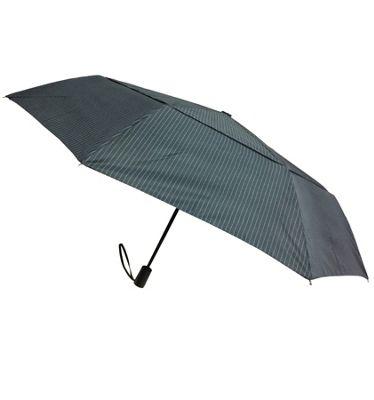 London Fog Umbrellas Windguard Travel Umbrella Navy Stripe - London Fog Umbrellas Umbrellas and Rain Gear