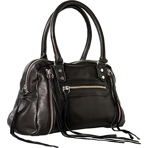 Jacki Easlick Jacki Satchel Black - Jacki Easlick Leather Handbags